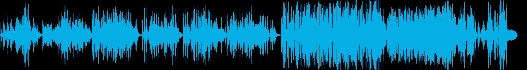 明度と透明度の高い幻想的なピアノソロ曲の再生済みの波形
