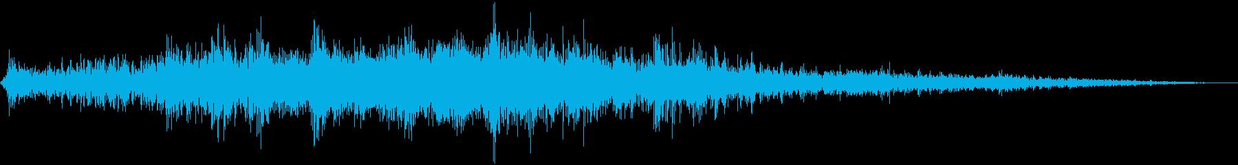 戦闘機上空通過(短め)の再生済みの波形