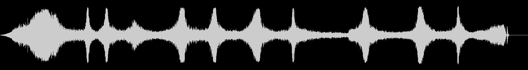 アセチレントーチバイスとヒスの未再生の波形