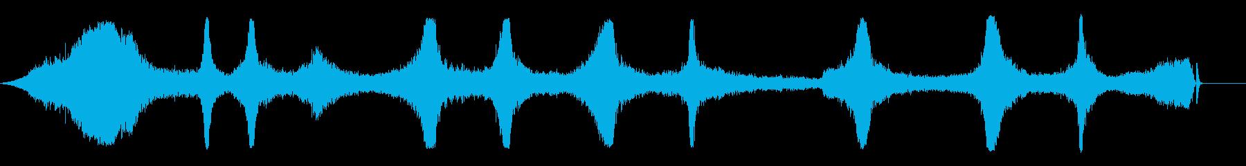 アセチレントーチバイスとヒスの再生済みの波形