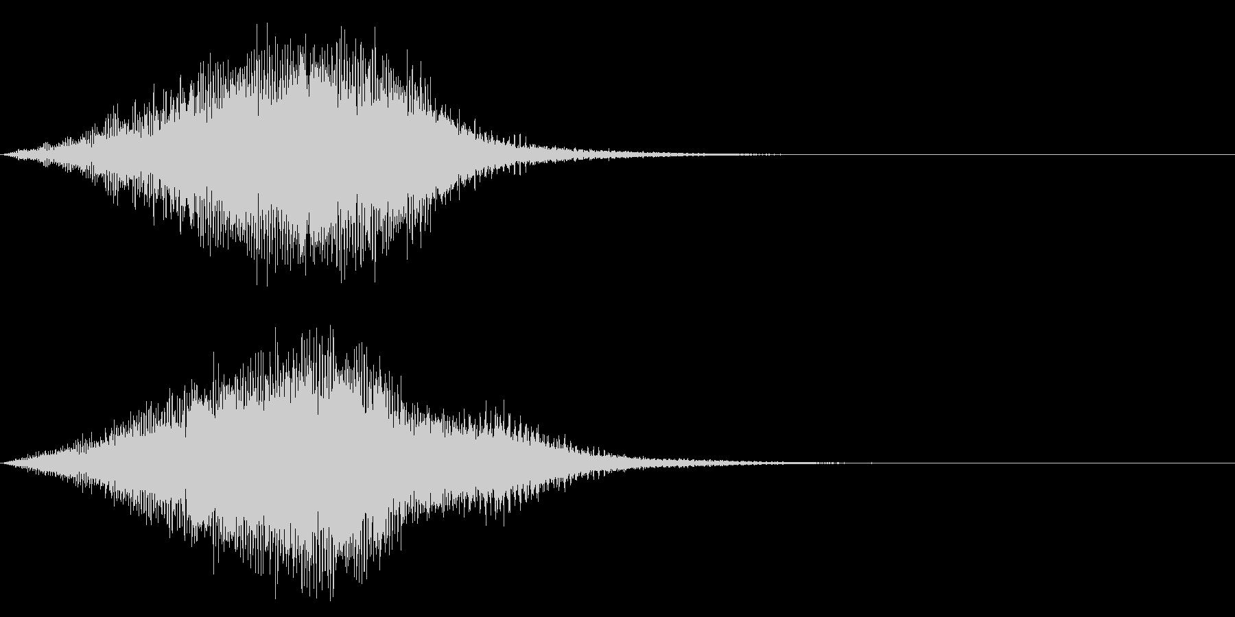 【昭和特撮風】化学反応/ワープの音 3の未再生の波形