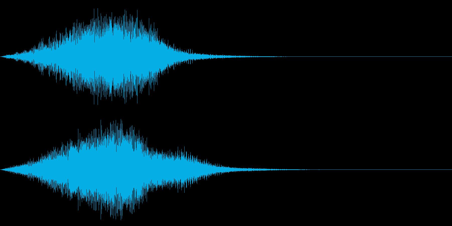 【昭和特撮風】化学反応/ワープの音 3の再生済みの波形