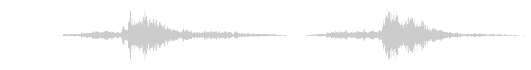 スチール缶貯金箱を振る音(小2回)の未再生の波形
