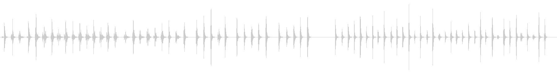 フィンガー、ドラミング、ミュート、...の未再生の波形