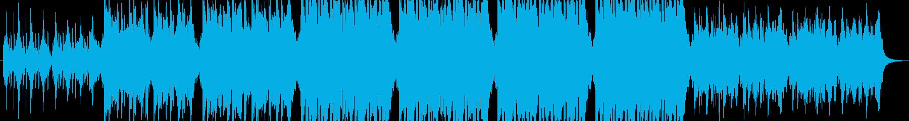 コミカルな面白い音楽の再生済みの波形