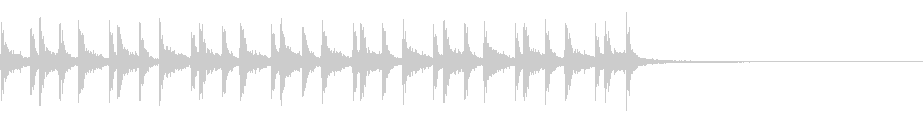 生ドラム_4小節16beatサンプリングの未再生の波形