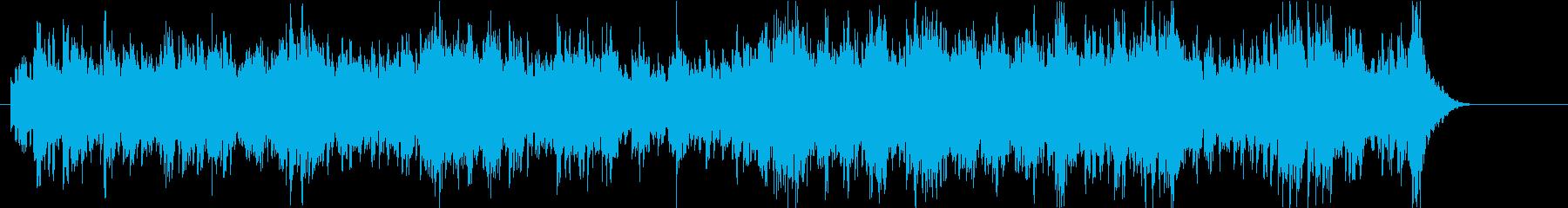 オールドライクなビブラフォンによるBGMの再生済みの波形