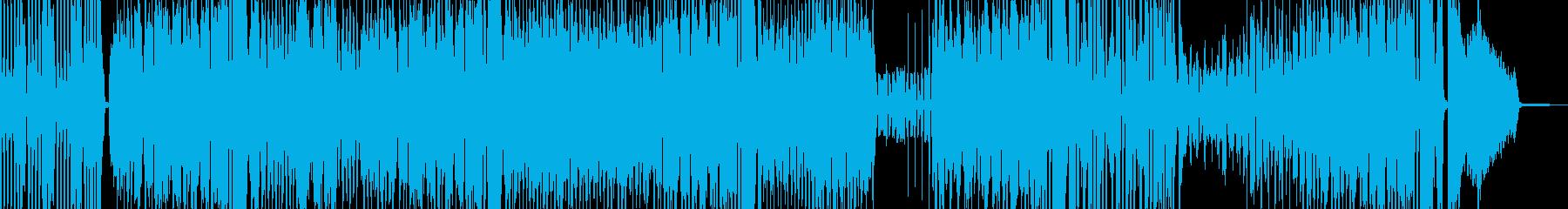 カートゥーン調のブラスジャズ 打楽器有の再生済みの波形