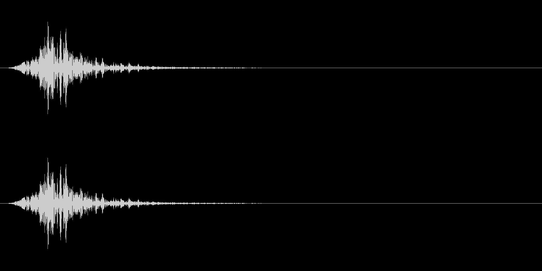 フォンッ(空を切る音)の未再生の波形