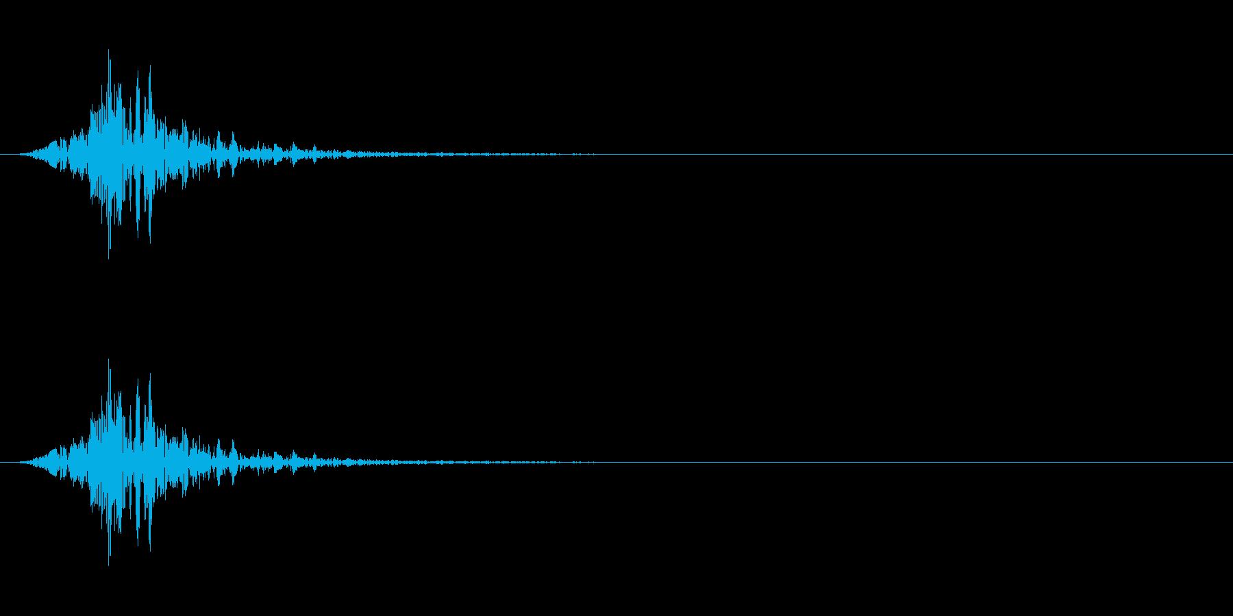 フォンッ(空を切る音)の再生済みの波形