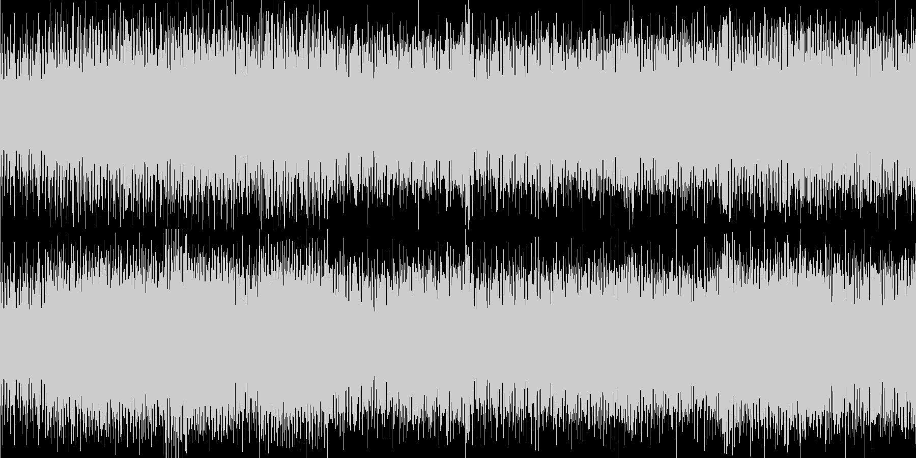 低音ビートの効いたテクノサウンドの未再生の波形
