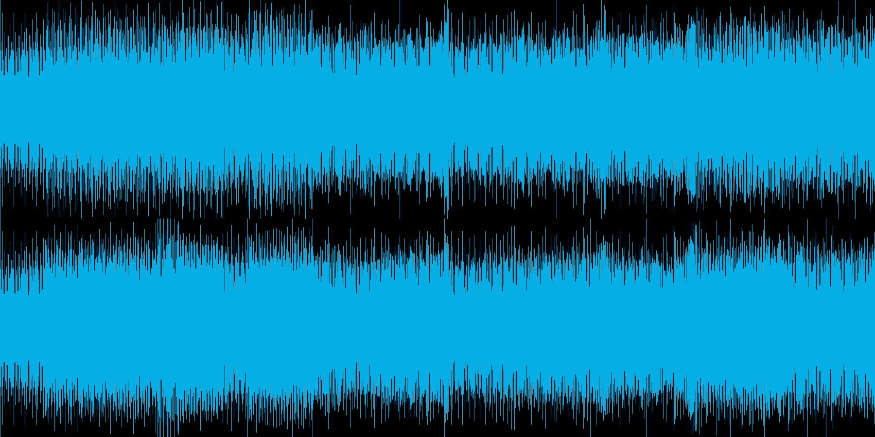 低音ビートの効いたテクノサウンドの再生済みの波形