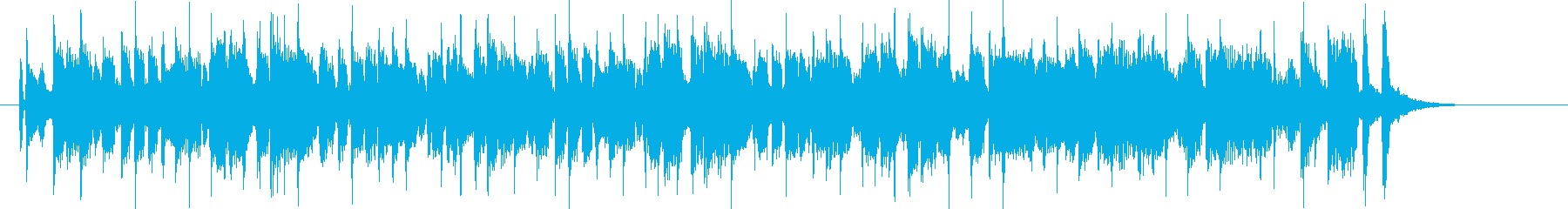 ゆったりとしたテンションの上がる音楽の再生済みの波形