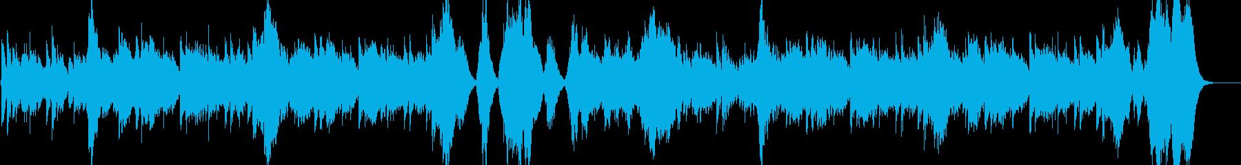 少しエキゾチックなオーケストラ曲の再生済みの波形