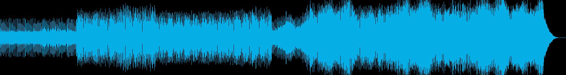 悲しく幻想的なヒーリング系テクノの再生済みの波形
