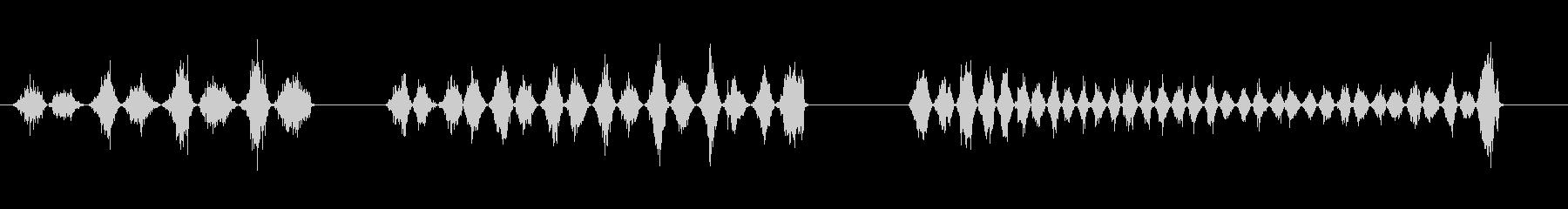 楽器弓のこ金属x3の未再生の波形