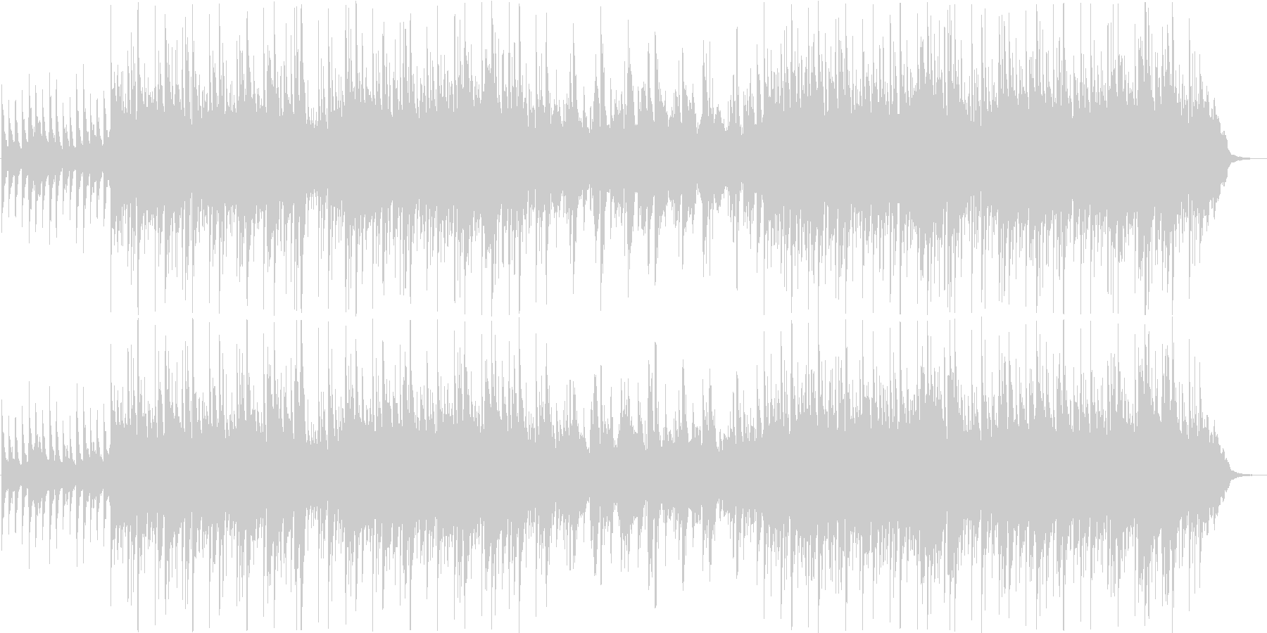 柔らかく可愛らしいシンプルサウンドの未再生の波形
