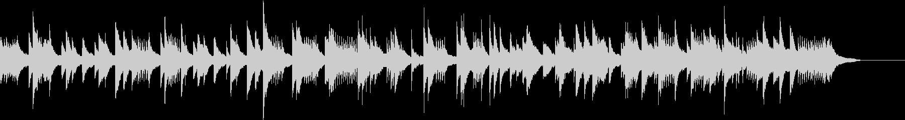 無機質なドキュメンタリー系ピアノ曲の未再生の波形