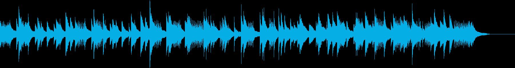 無機質なドキュメンタリー系ピアノ曲の再生済みの波形