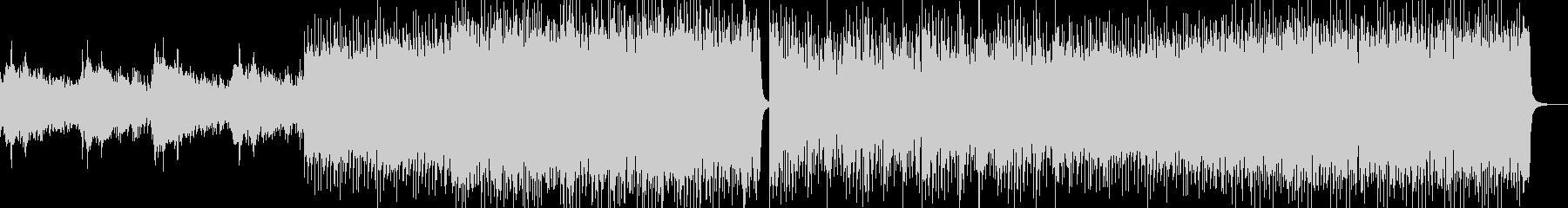 軽快なアニメ指向のバトル曲の未再生の波形