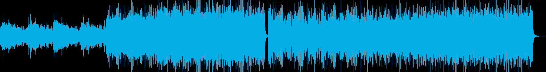 軽快なアニメ指向のバトル曲の再生済みの波形
