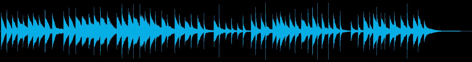 Slow and dark piano ballad's reproduced waveform