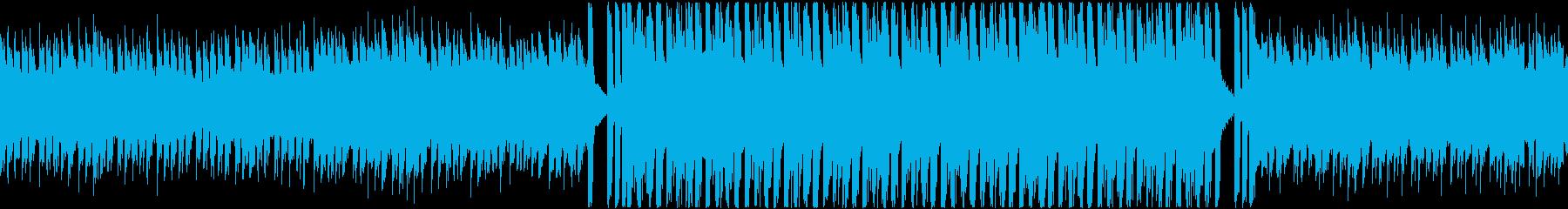 空を飛ぶような疾走感のあるテクノ曲の再生済みの波形