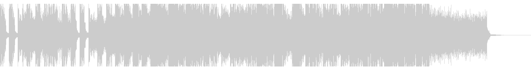 疾走感溢れるデジタルロックの未再生の波形