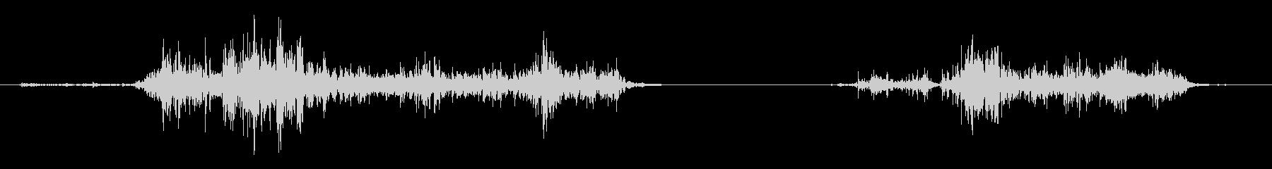 ASMR 紙をビリビリと破る音の未再生の波形