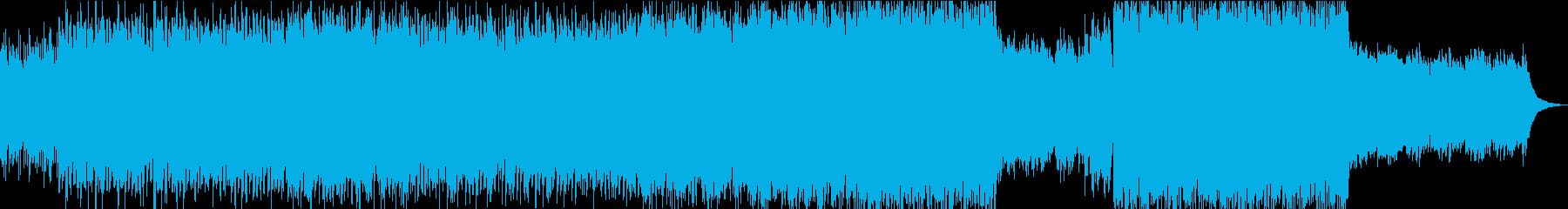 ピアノとストリングスとギターポップロックの再生済みの波形