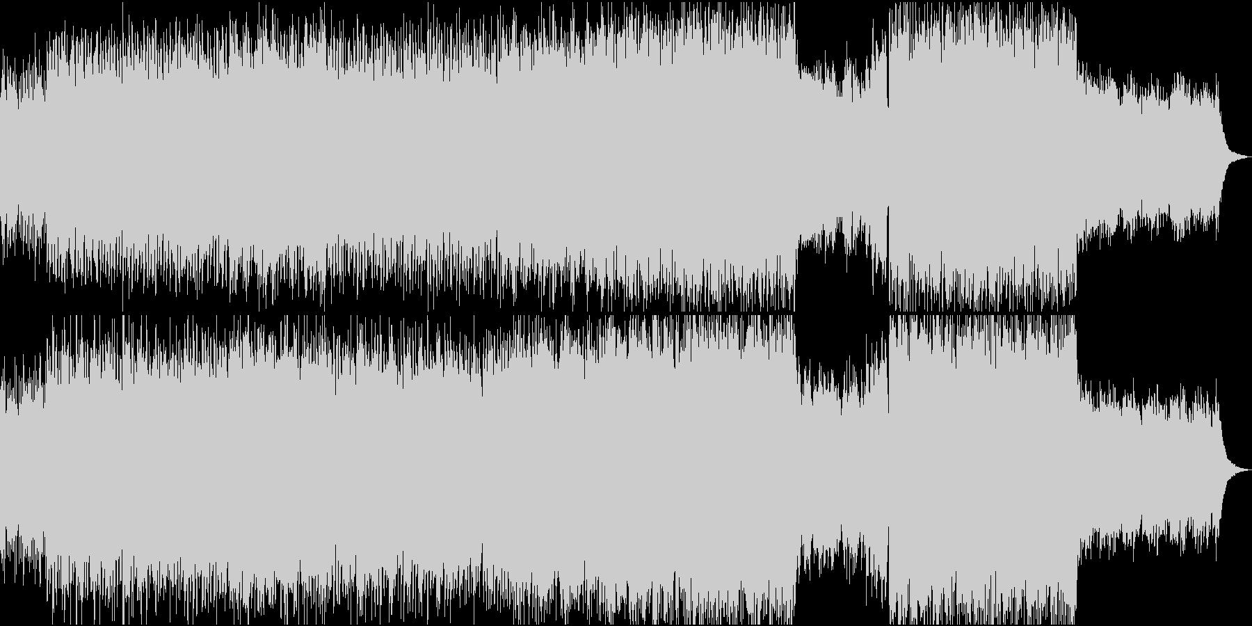ピアノとストリングスとギターポップロックの未再生の波形