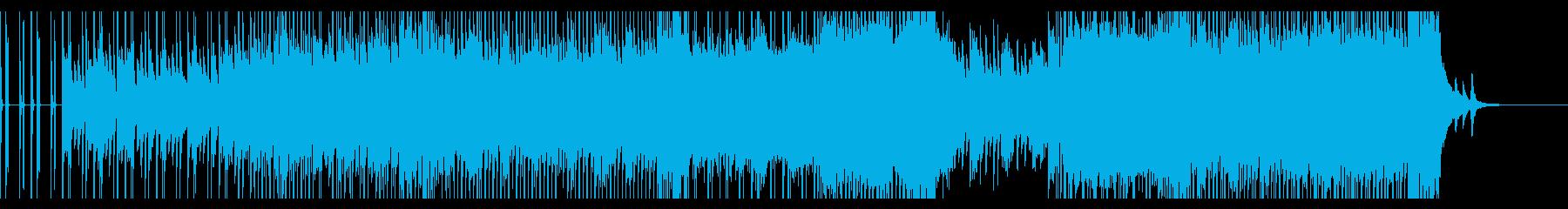可愛らしい雰囲気のテクノポップの再生済みの波形