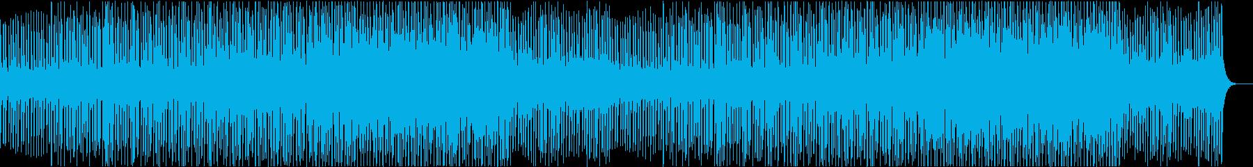 クールで落ち着いた印象のチュートリアル曲の再生済みの波形