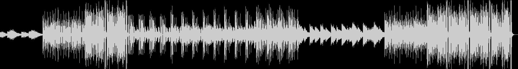 寂しげなエレクトロファンクBGMの未再生の波形