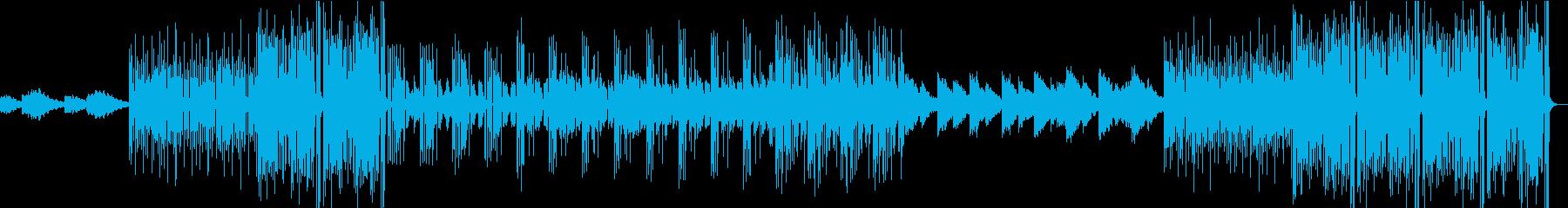 寂しげなエレクトロファンクBGMの再生済みの波形
