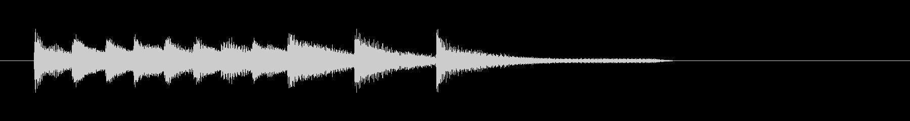 シンプルで知的なピアノのジングルの未再生の波形