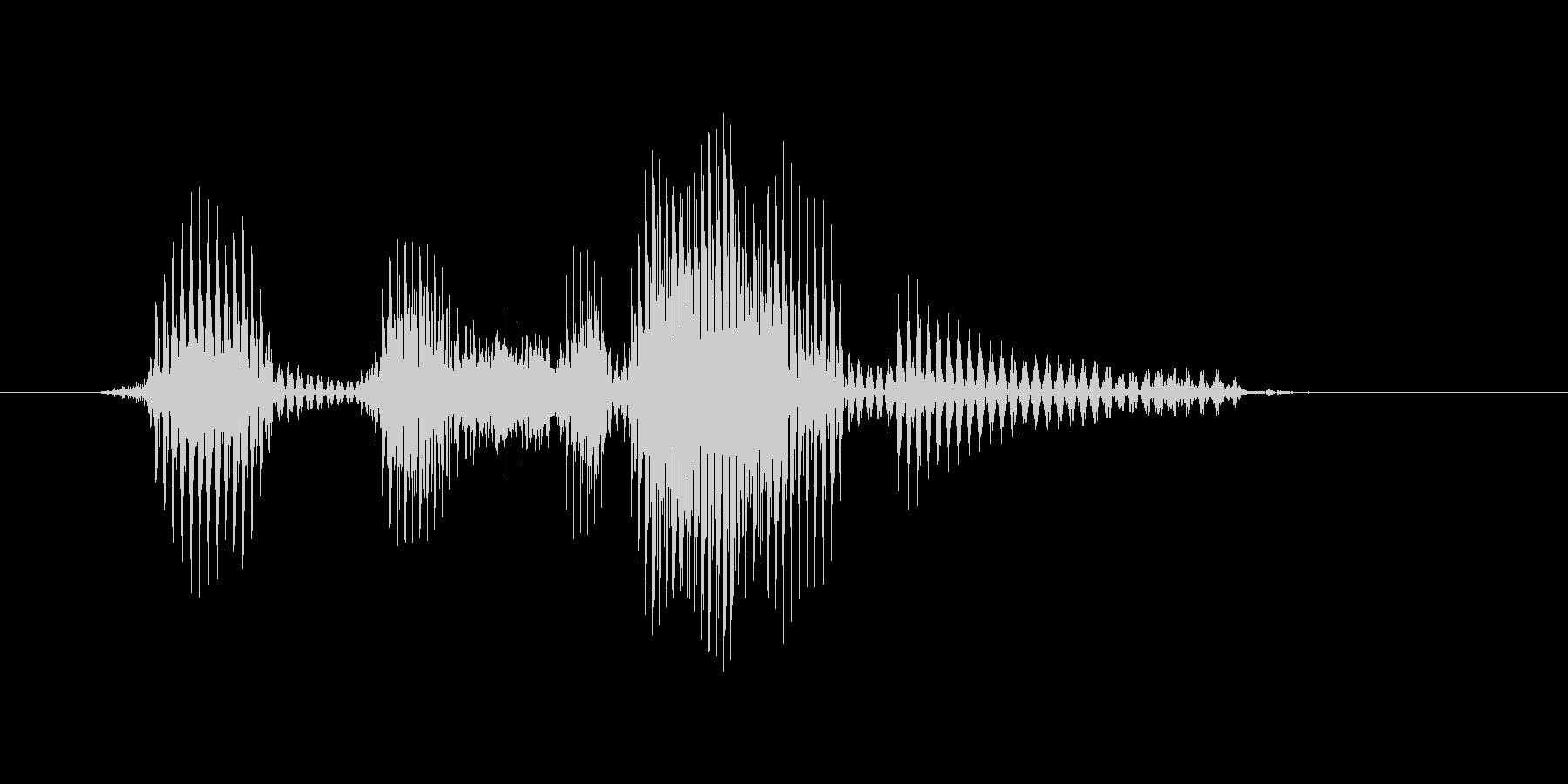 ヘッドスライディングの未再生の波形