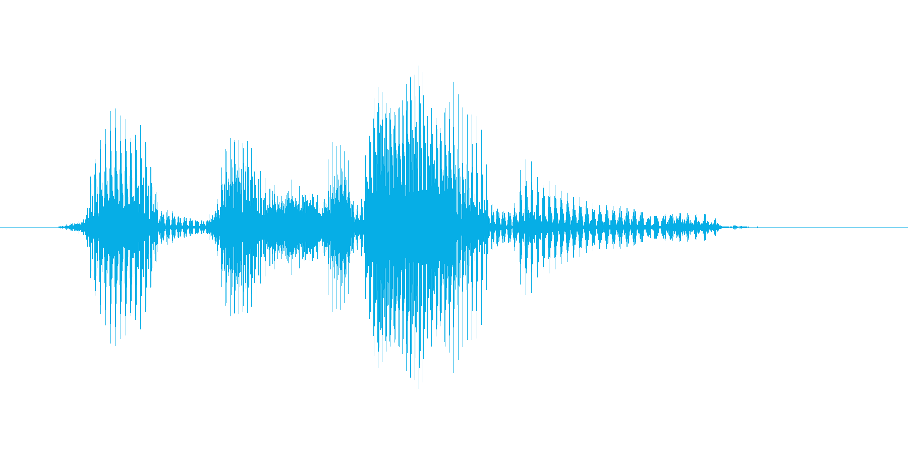 ヘッドスライディングの再生済みの波形