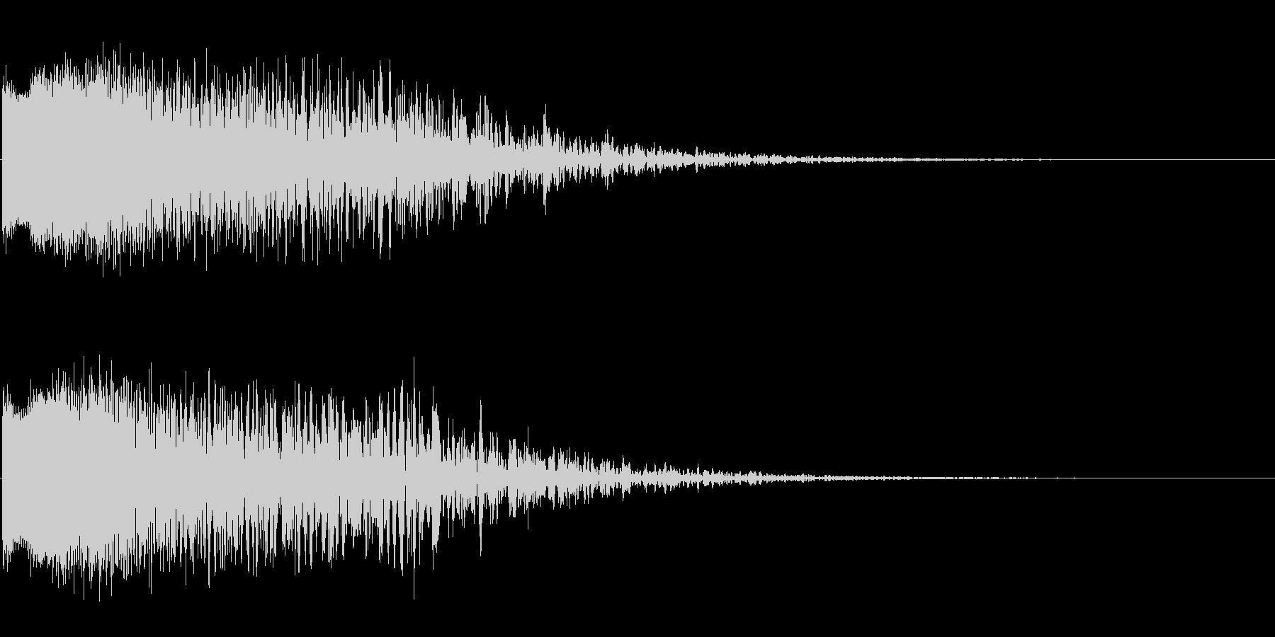 レーザービームの効果音の未再生の波形
