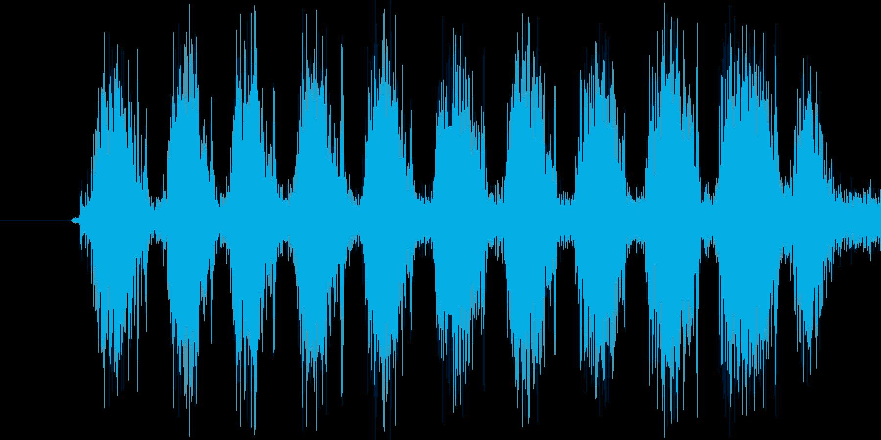 ドドドドドド。銃を連射する音です。の再生済みの波形