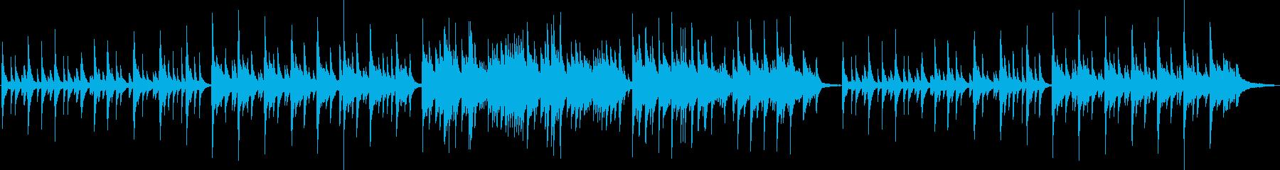 悲しい、切ない雰囲気のピアノバラードの再生済みの波形