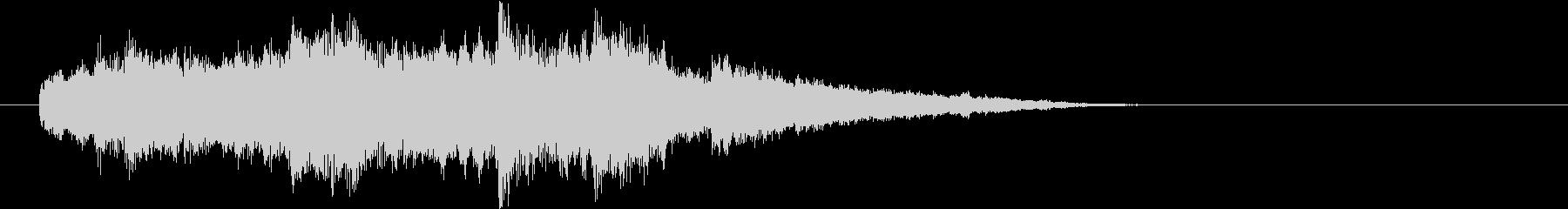 落ち着いた感じのジングル チェロ ピアノの未再生の波形
