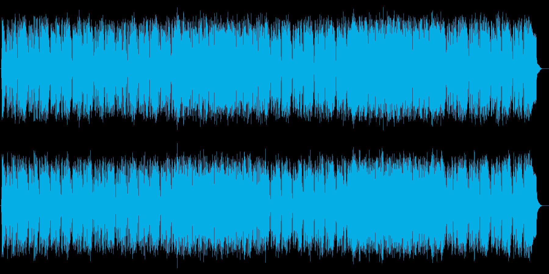 オシャレかわいいテクノポップの再生済みの波形