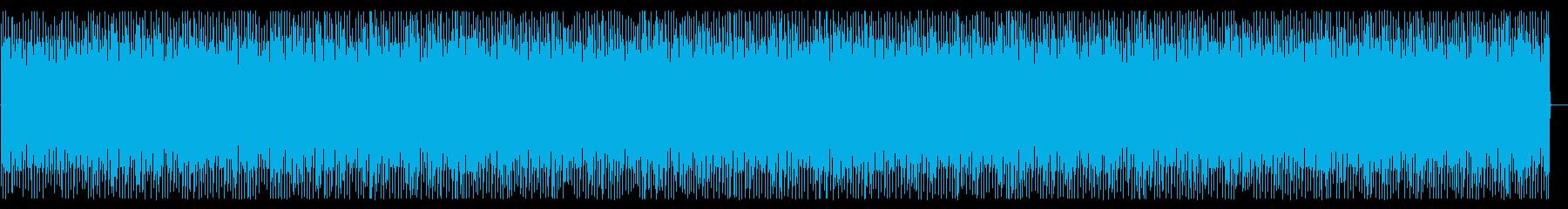 ポップで力の抜けたおちゃらけ曲の再生済みの波形