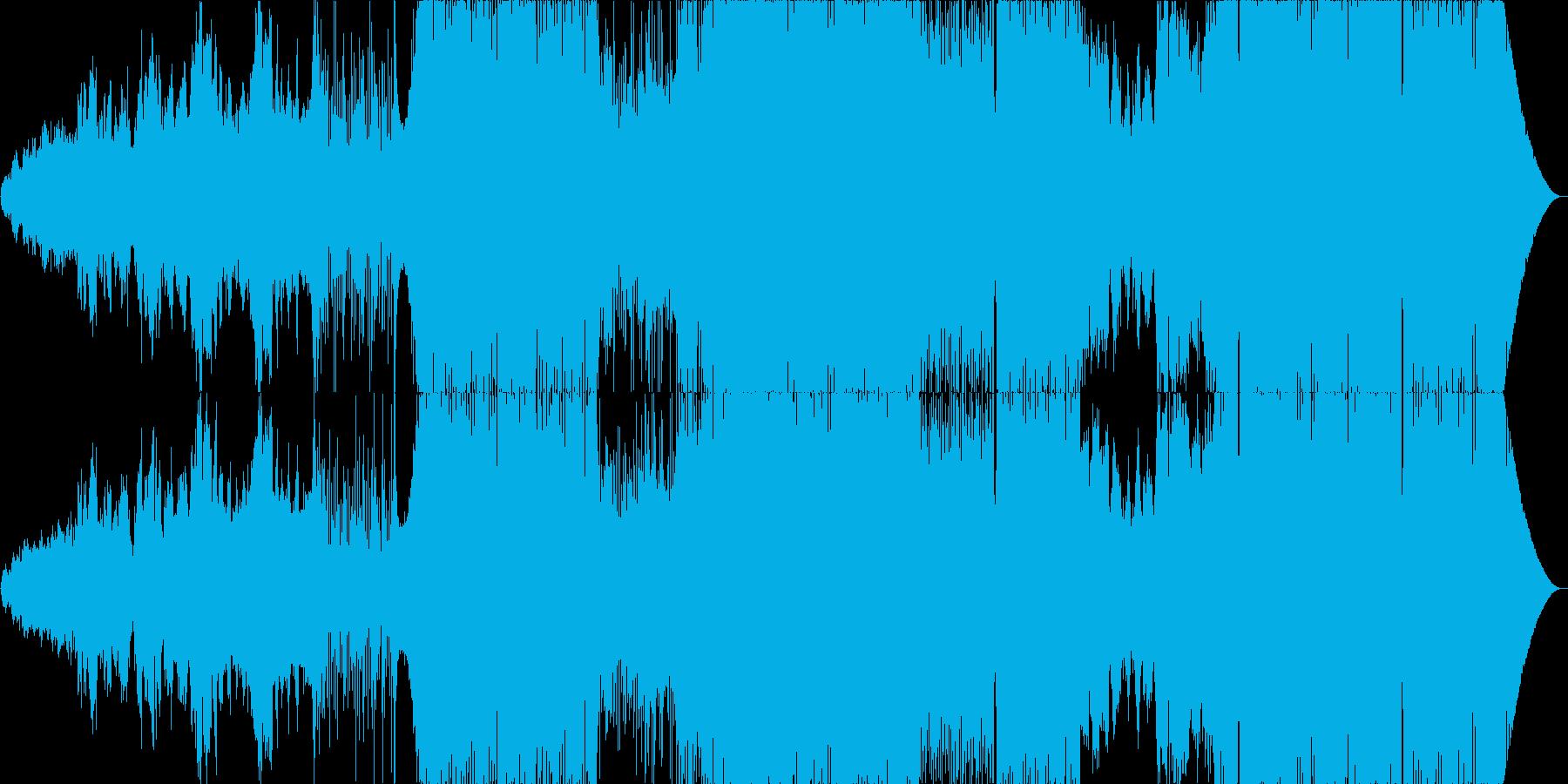 女性Voの美しい賛美歌からのエレクトロの再生済みの波形
