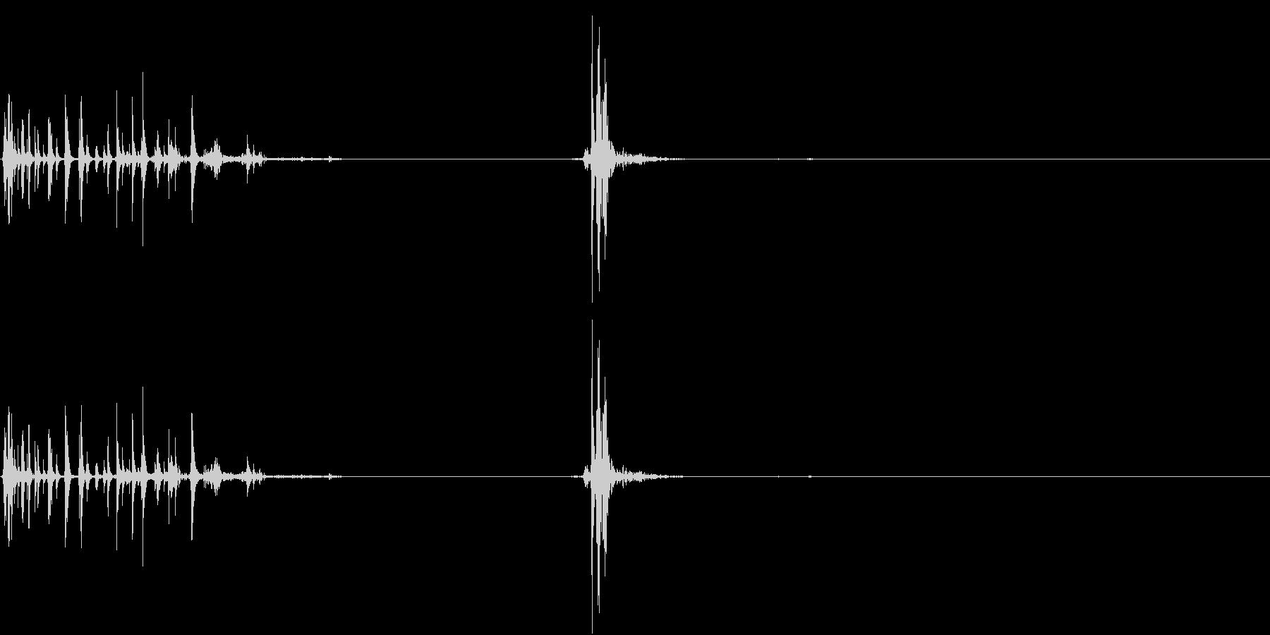 【生録音】ジュポッっと開封・開栓する音の未再生の波形