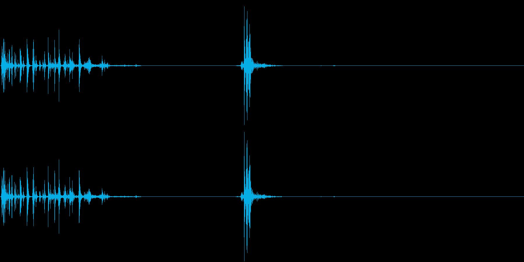 【生録音】ジュポッっと開封・開栓する音の再生済みの波形