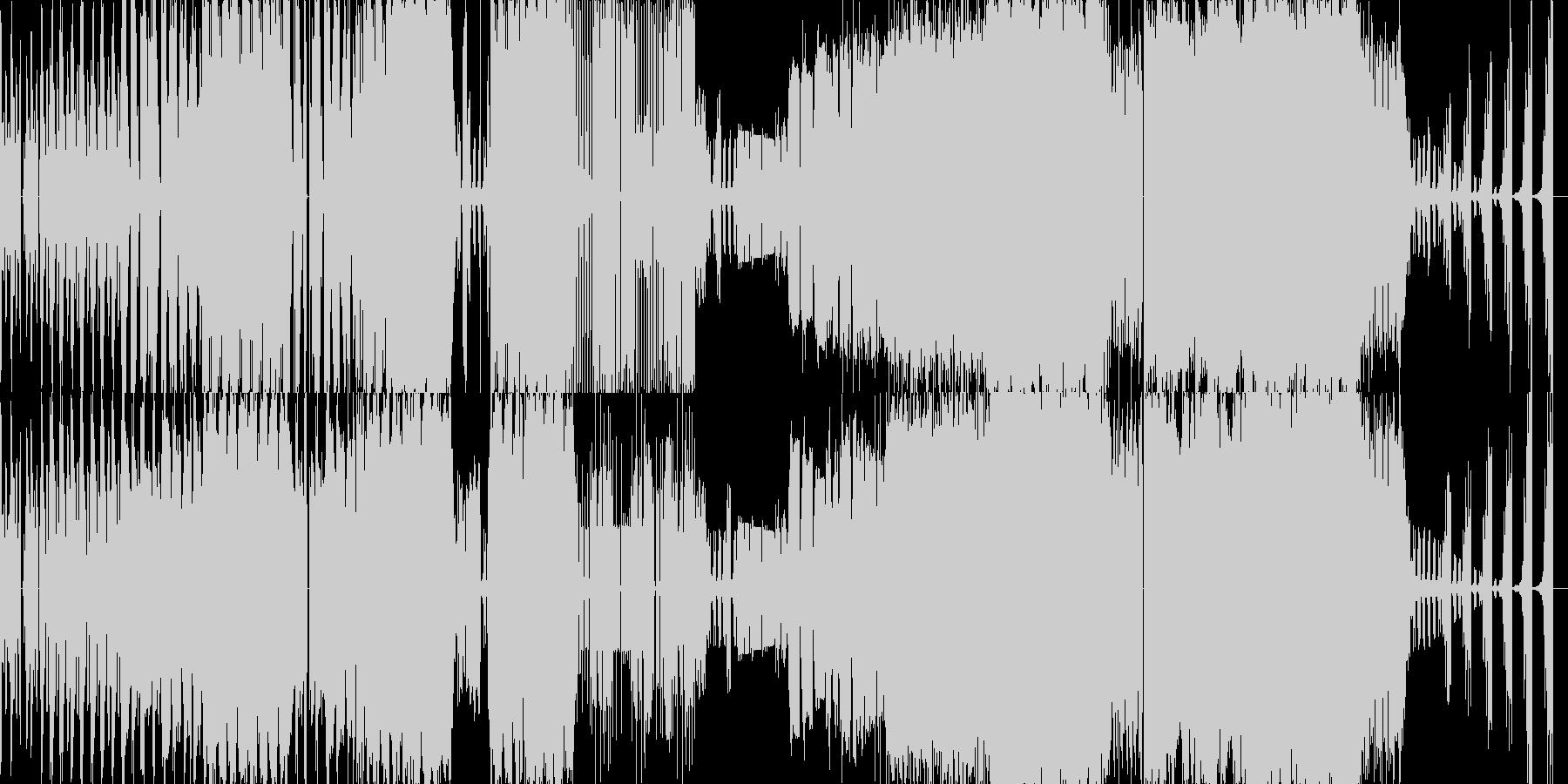 オーケストラを波形でブチブチに切った曲の未再生の波形