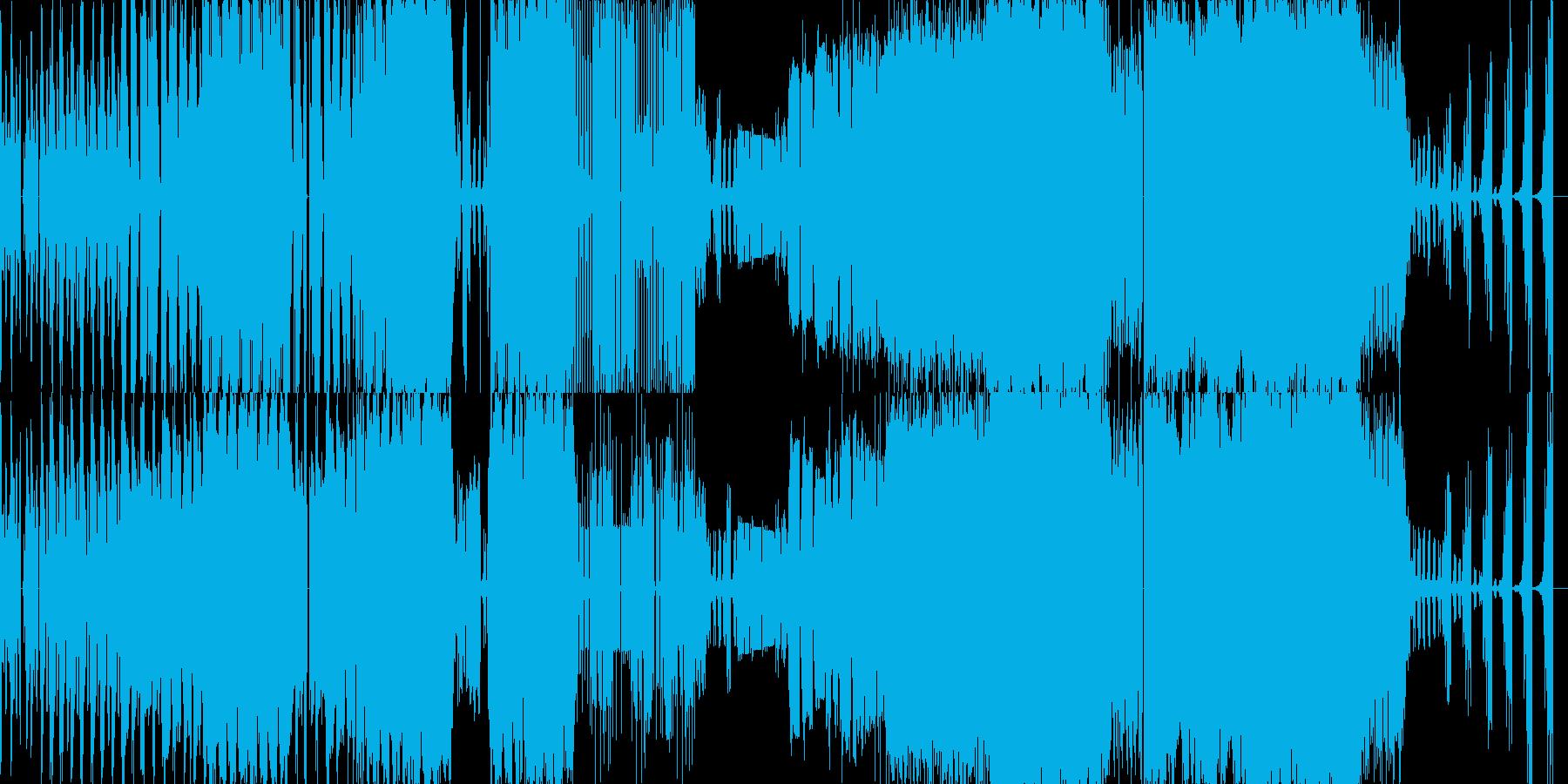 オーケストラを波形でブチブチに切った曲の再生済みの波形