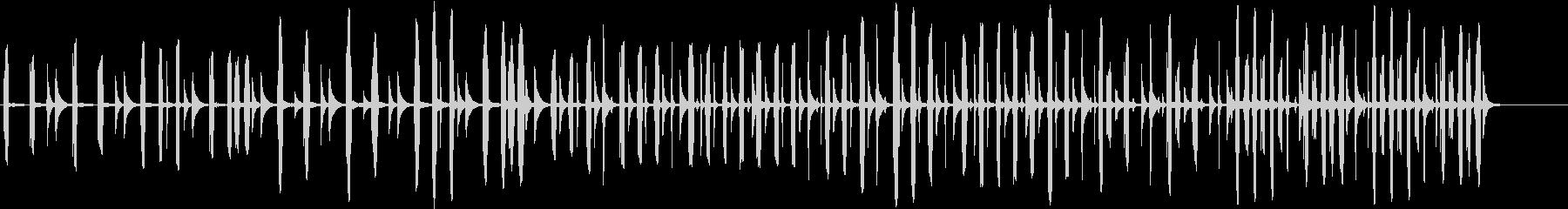 リコーダーのほのぼのした印象の曲の未再生の波形